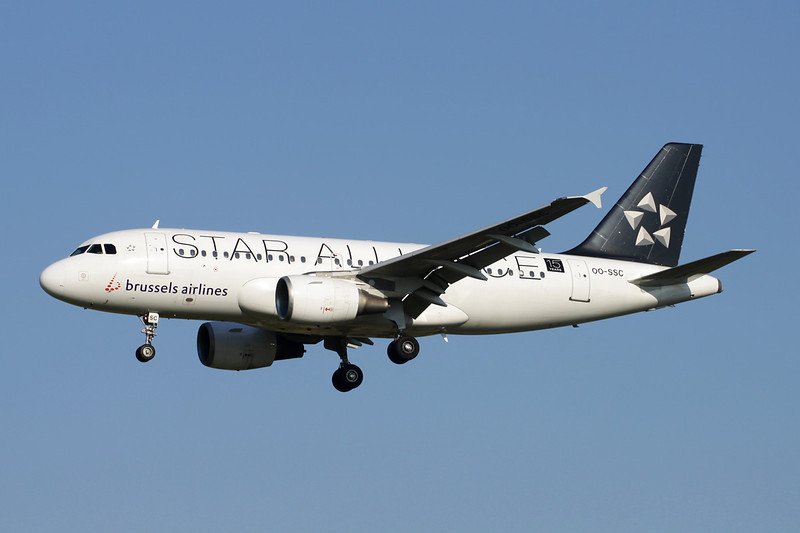 "OO-SSC Airbus A319-112 c/n 1086 Brussels/EBBR/BRU 07-07-13 ""Star Alliance"""