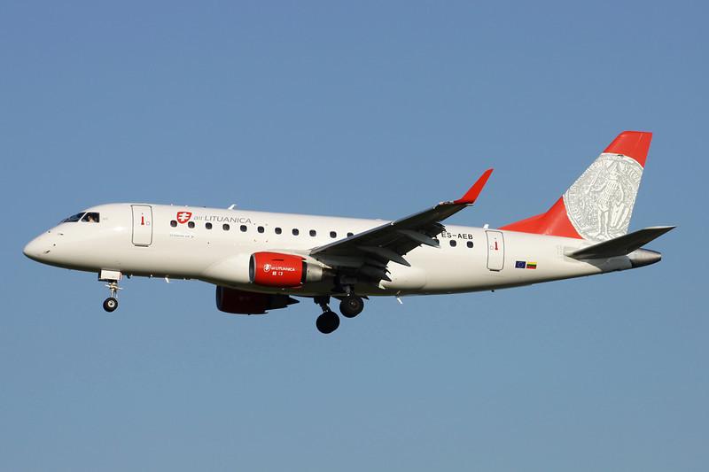 "ES-AEB Embraer Emb-170-100ST ""Air Lituanica"" c/n 17000106 Brussels/EBBR/BRU 07-07-13"