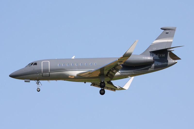 LX-EVM Dassault Falcon 2000LX c/n 181 Brussels/EBBR/BRU 07-07-13
