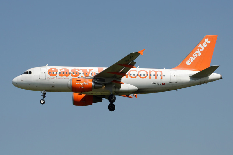 "HB-JZQ Airbus A319-111 ""easyJet Switzerland"" c/n 2450 Brussels/EBBR/BRU 07-07-13"