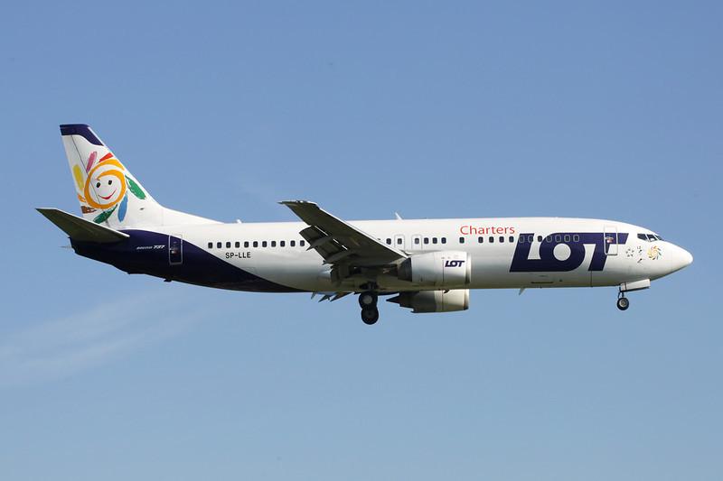"""SP-LLE Boeing 737-45D c/n 27914 Brussels/EBBR/BRU 27-05-13 """"Charters"""""""