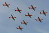 """A-929 Pilatus PC-7 """"Swiss Air Force"""" c/n 337 Cambrai/LFQI/XCB 02-07-06 """"9 ship formation"""""""