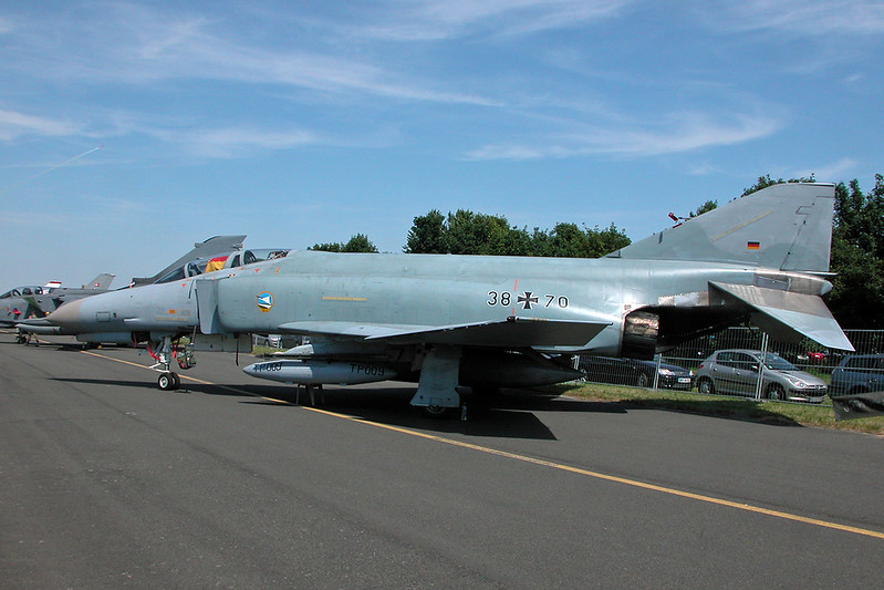 "38+70 McDonnell-Douglas F-4F Phanton II ""German Air Force"" c/n 4788 Cambrai/LFQI/XCB 02-07-06"