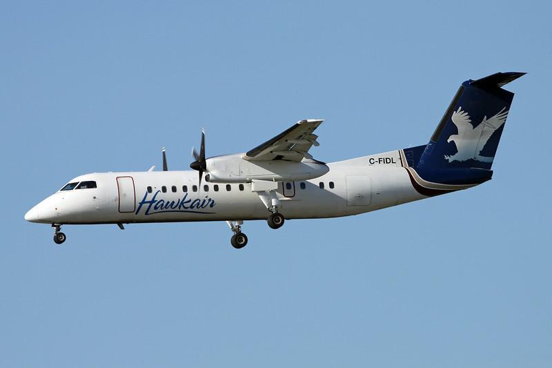 "C-FIDL de Havilland Canada DHC-8-311A ""Hawkair"" c/n 305 Vancouver/CYVR/YVR 29-04-14"