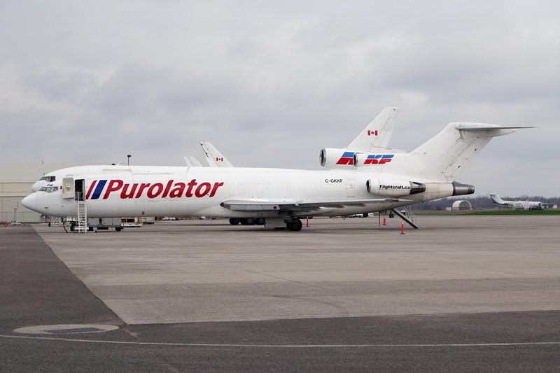 "C-GKKF Boeing  727-227 ""Kelowna Flightcraft"" c/n 21043 Hamilton/CYHM/YHM 03-05-14 ""Purolator"""