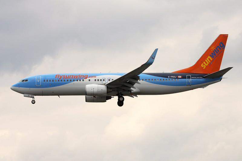 """C-FRZJ Boeing 737-8K5 """"Sunwing"""" c/n 34690 Toronto-Pearson/CYYZ/YYZ 01-05-14"""