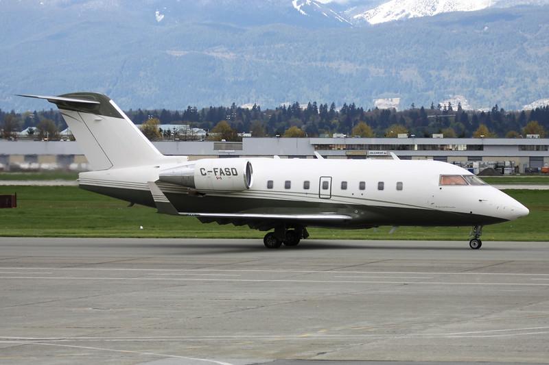 C-FASD Bombardier 604 Challenger c/n 5549 Vancouver/CYVR/YVR 27-04-14