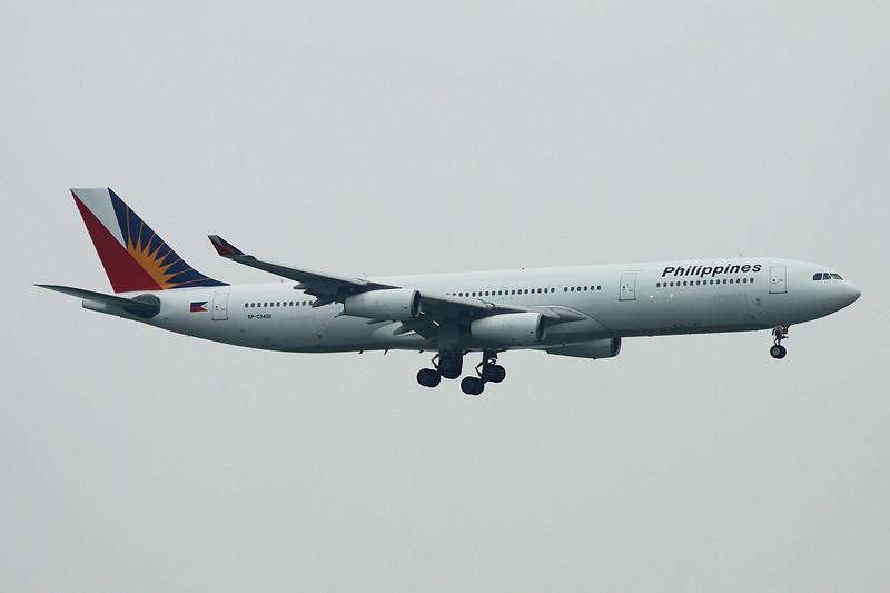 """RP-C3430 Airbus A340-313X  c/n  <a href=""""https://www.ctaeropics.com/search#q=c/n%20173"""">173 </a> Hong Kong-Chek Lap Kok/VHHH/HKG 20-11-12"""