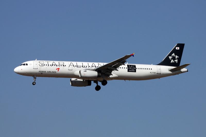 """HL7730 Airbus A321-231 c/n 2226 Xi'an/ZLXY/XIY 11-11-12 """"Star Alliance 15 Years"""""""