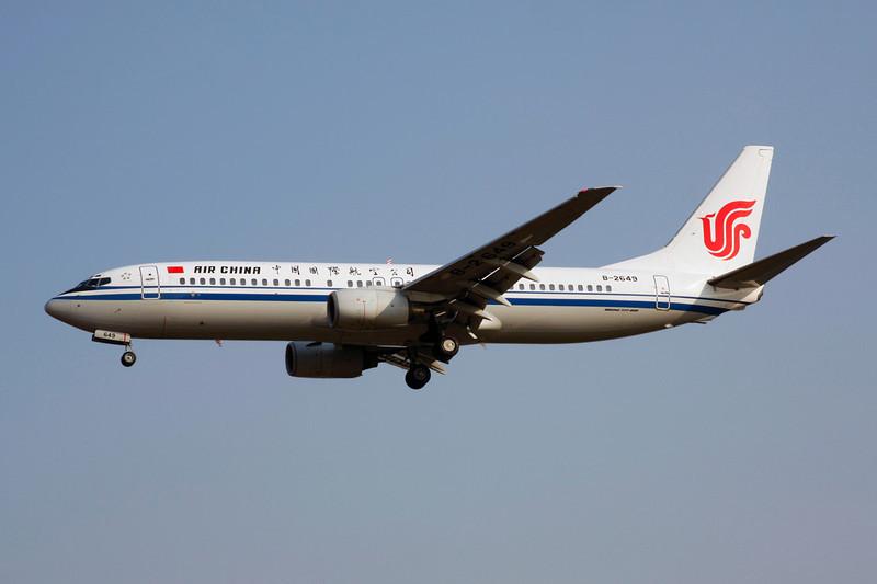 B-2649 Boeing 737-89L c/n 30159 Beijing-Capital/ZBAA/PEK 08-11-12