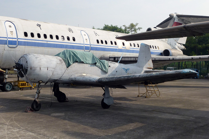 """unknown Nanchang CJ-6 """"PLAAF"""" c/n unknown Guangzhou/ZGGG/CAN 15-11-12"""