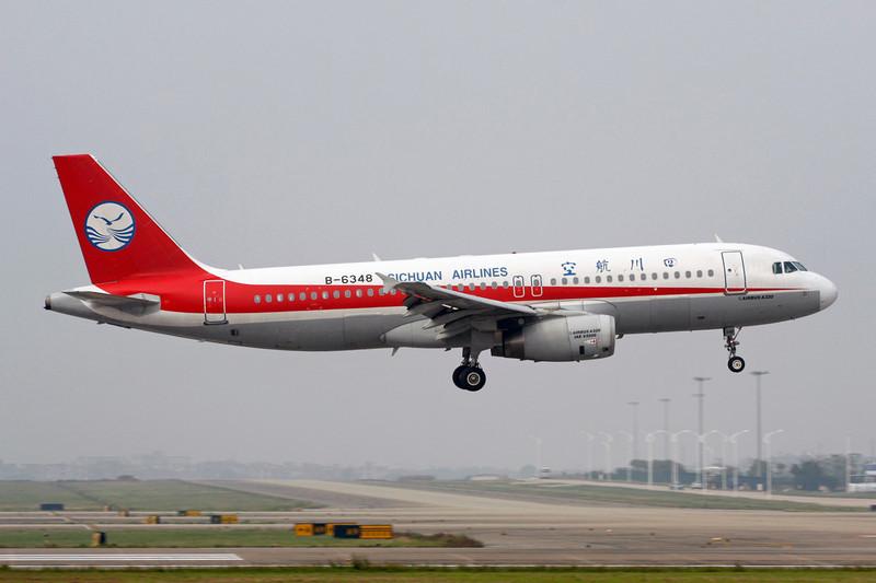 """B-6348 Airbus A320-232 """"Sichuan Airlines"""" c/n 3449 Guangzhou-Baiyun/ZGGG/CAN 14-11-12"""