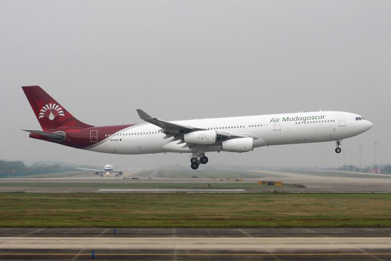 """5R-EAA Airbus A340-313X """"Air Madagascar"""" c/n 319 Guangzhou/ZGGG/CAN 15-11-12"""
