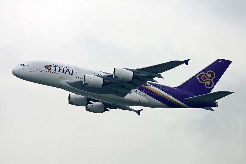 HS-TUA Airbus A380-841 c/n 087 Hong Kong-Chek Lap Kok/VHHH/HKG 20-11-12
