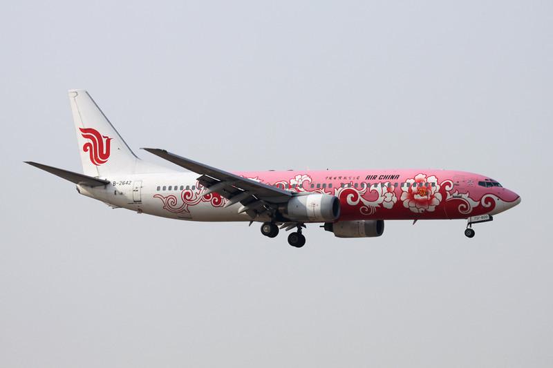 """B-2642 Boeing 737-89L c/n 29877 Beijing-Capital/ZBAA/PEK 09-11-12 """"Pink Peony"""""""