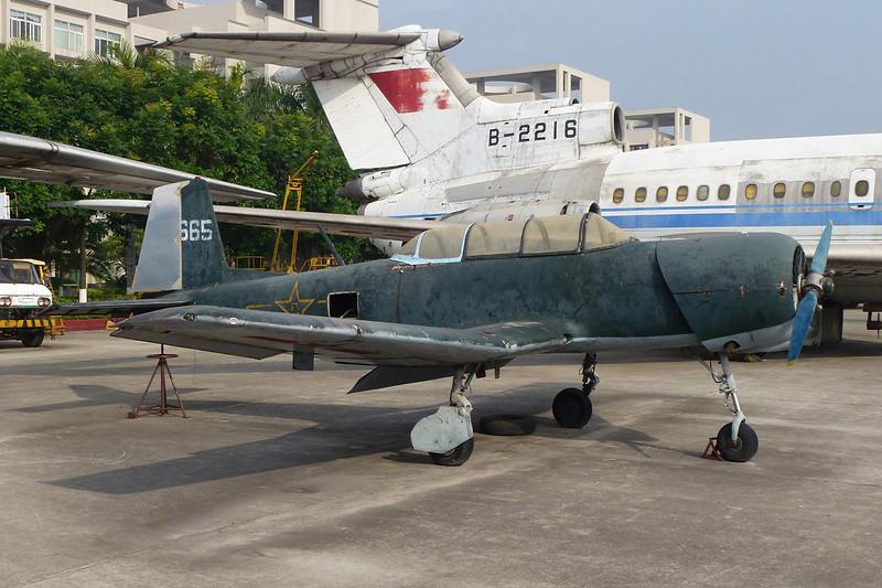 """62665 Nanchang CJ-6 """"PLAAF"""" c/n unknown Guangzhou/ZGGG/CAN 15-11-12"""