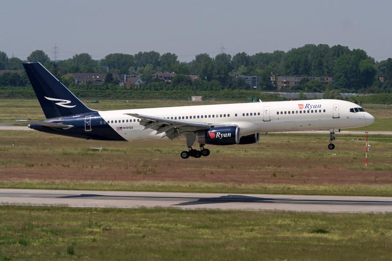 """N151GX Boeing 757-2G5 """"Ryan International Airlines"""" c/n 24451 Dusseldorf/EDDL/DUS 10-06-06"""