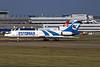 """ES-LTR Tupolev Tu-154M """"ELK Estonian"""" c/n 91A896 Dussledorf/EDDL/DUS 17-07-96 (35mm slide)"""