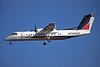 """D-BACH de Havilland Canada DHC-8-314A """"Interot Airways"""" c/n 365 Dussledorf/EDDL/DUS 17-07-96 """"Augsburg Airways"""" (35mm slide)"""