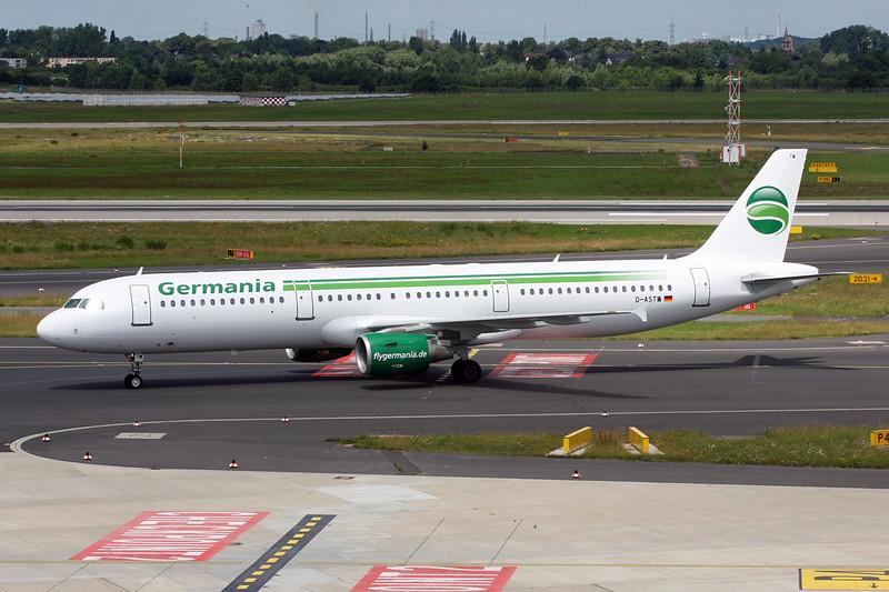"""D-ASTW Airbus A321-211 """"Germania """" c/n 0970 Dusseldorf/EDDL/DUS 22-06-14"""