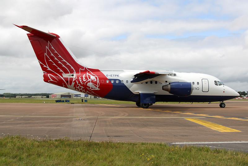 "G-ETPK British Aerospac RJ-70ER ""QinetiQ"" c/n E1254 Fairford/EGVA/FFD 22-07-19"