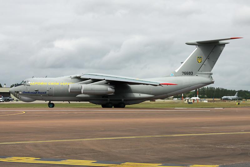 "76683 Ilyushin IL-76MD ""Ukrainian Air Force"" c/n 0063468029 Fairford/EGVA/FFD 22-07-19"