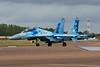 "71 blue Sukhoi Su-27 UBM1 ""Ukrainian Air Force"" c/n 96310424043 Fairford/EGVA/FFD 22-07-19"