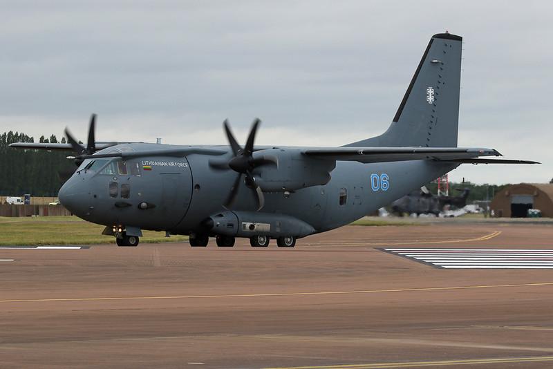 """06 blue Aeritalia C-27J Spartan """"Lithuanian Air Force"""" c/n 4115 Fairford/EGVA/FFD 22-07-19"""