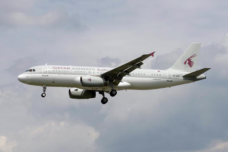 A7-AAG Airbus A320-232 c/n 0927 Heathrow/EGLL/LHR 15-07-11