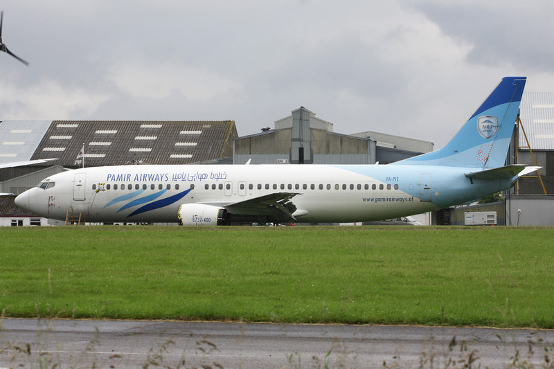 "YA-PIE Boeing 737-4Y0 ""Pamir Airways"" c/n 26086 Lasham/EGHL 07-07-12"