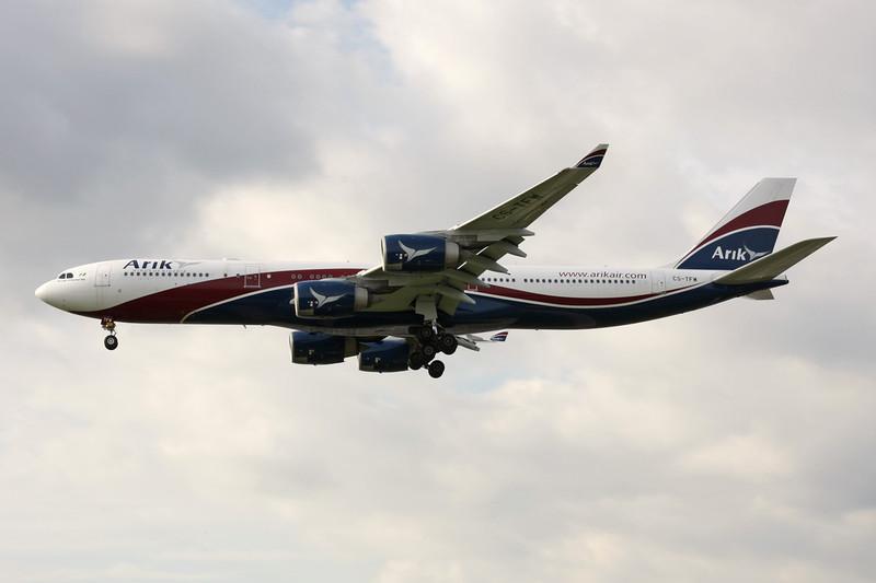 """CS-TFW Airbus A340-542 """"Arik Air"""" c/n 910 Heathrow/EGLL/LHR 05-07-12"""