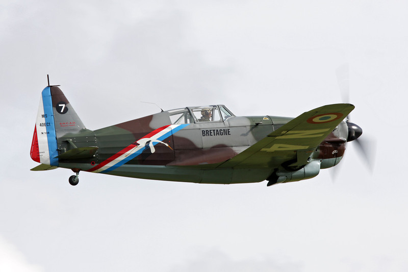 HB-RCF (N4 58) Morane-Saulnier MS.406 D-3801 c/n 194 Duxford/EGSU 12-07-09