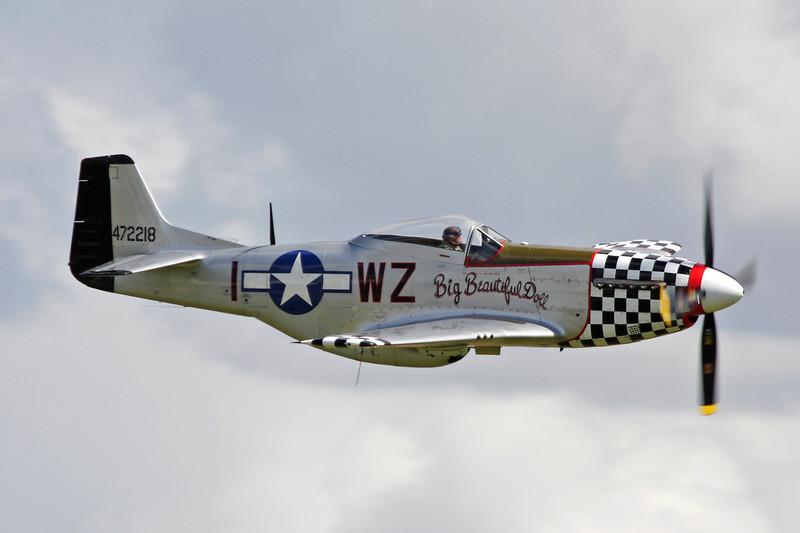 G-HAEC (WZ-I/472218) Commonwealth CA-18 Mustang PR.22 c/n 1517 Duxford/EGSU 12-07-09