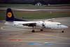 D-AFFI Fokker F-50 c/n 20272 Hamburg-Fuhlsbuttel/EDDH/HAM 10-09-95 (35mm slide)