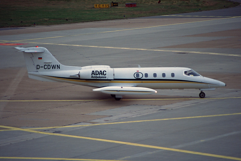 D-CDWN Learjet 35A c/n 35-175 Hamburg-Fuhlsbuttel/EDDH/HAM 10-09-95 (35mm slide)