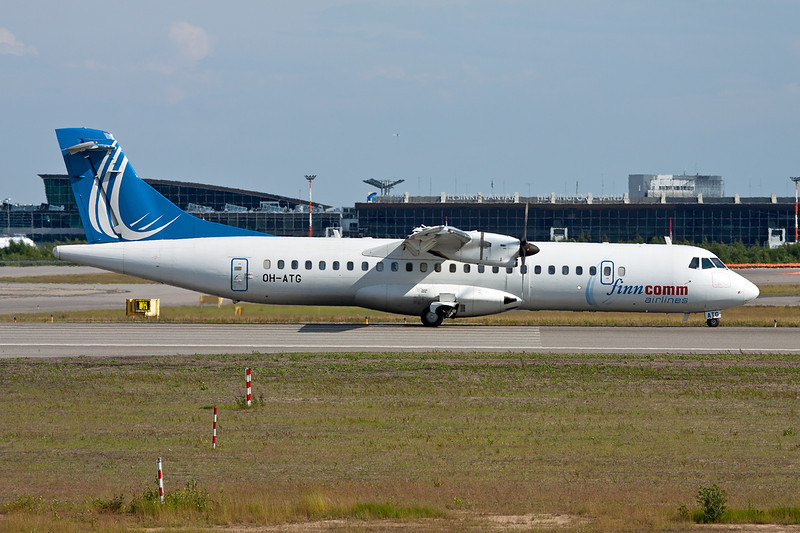 "OH-ATG Aerospatiale ATR-72-212A ""Finncomm Airlines"" c/n 757 Helsinki-Vantaa/EFHK/HEL 20-06-11"