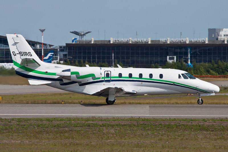 G-SIRS Cessna 560 Citation Excel c/n 560-5185 Helsinki-Vantaa/EFHK/HEL 20-06-11