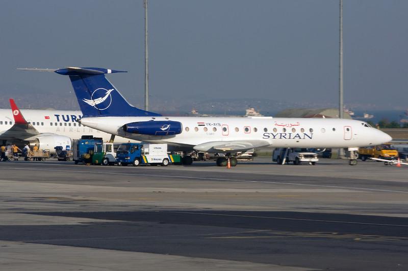 """YK-AYB Tupolev Tu-134BK-3 """"Syrianair"""" c/n 63994 Istanbul-Ataturk/LTBA/IST 16-09-09"""