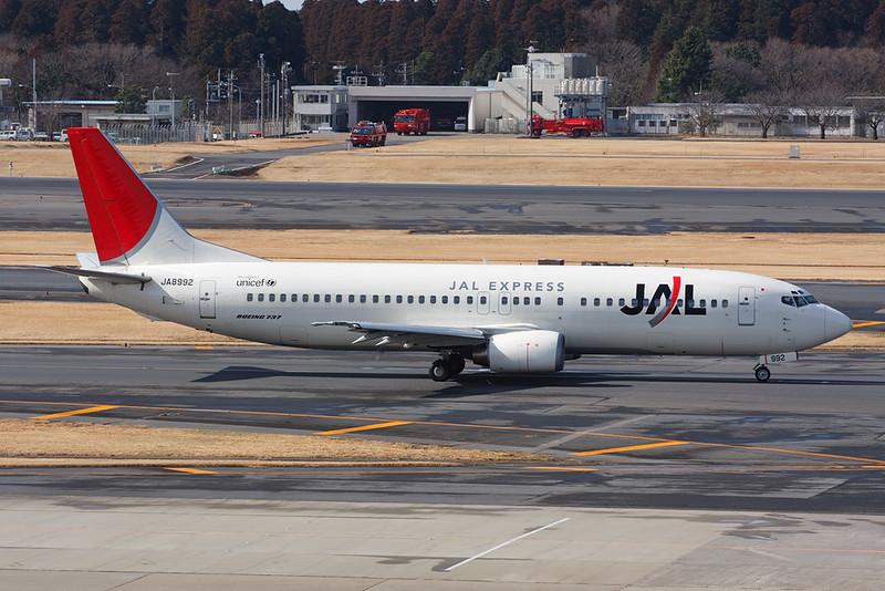 JA8992 Boeing 737-446 c/n 27917 Tokyo-Narita/RJAA/NRT 25-02-11