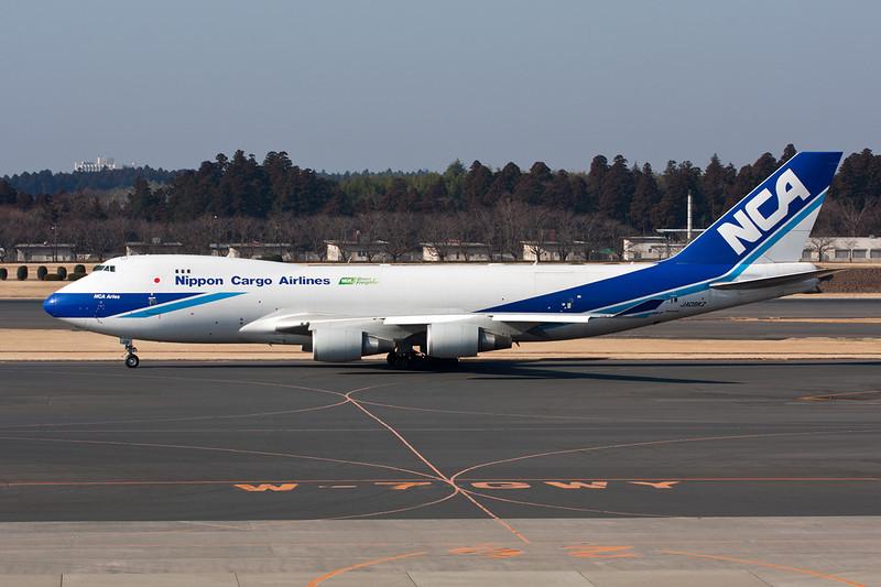 "JA08KZ Boeing 747-4KZF ""Nippon Cargo Airlines"" c/n 36135 Tokyo-Narita/RJAA/NRT 23-02-11 ""Green Freighter"""