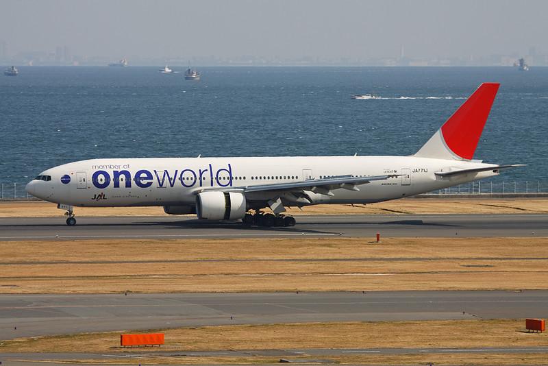 """JA771J Boeing 777-246 c/n 27656 Tokyo-Haneda/RJTT/HND 26-02-11 """"One World"""""""