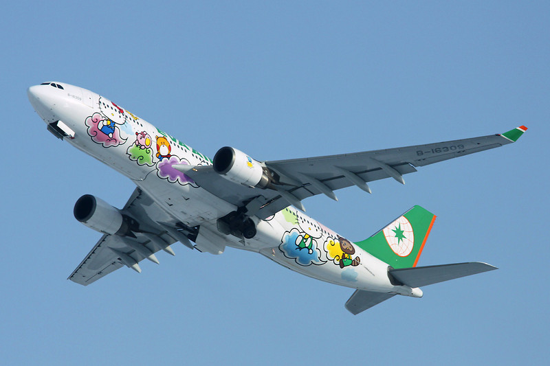 """B-16309 Airbus A330-203 c/n 661 Sapporo-New Chitose/RJCC/CTS 09-03-13 """"Hello Kitty"""""""