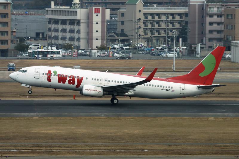 "HL8232 Boeing 737-8K5 ""Tway Air"" c/n 27979 Fukuoka/RJFF/FUK 11-01-14"
