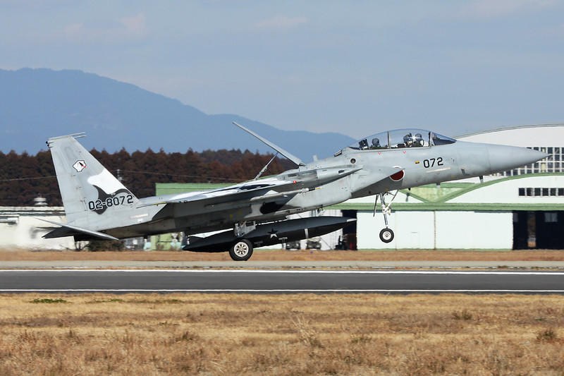 "02-8072 McDonnell-Douglas F-15DJ Eagle ""JASDF"" c/n unknown Nyutabaru/RJFN 15-01-14 ""Aggresor Squadron"""