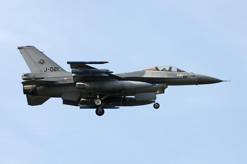 "J-021 General Dynamics F-16AM Fighting Falcon ""Royal Netherlands Air Force"" c/n 6D-177 Kleine-Brogel/EBBL 23-10-12"