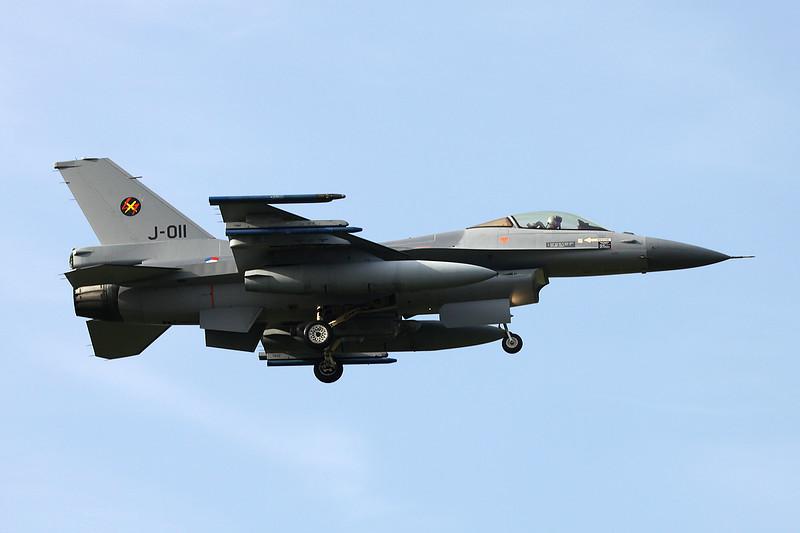 "J-011 General Dynamics F-16AM Fighting Falcon ""Royal Netherlands Air Force"" c/n 6D-167 Kleine-Brogel/EBBL 23-10-12"