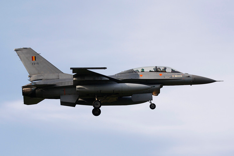 "FB-15 General Dynamics F-16BM Fighting Falcon ""Belgian Air Force"" c/n 6J-15 Kleine-Brogel/EBBL 23-10-12"