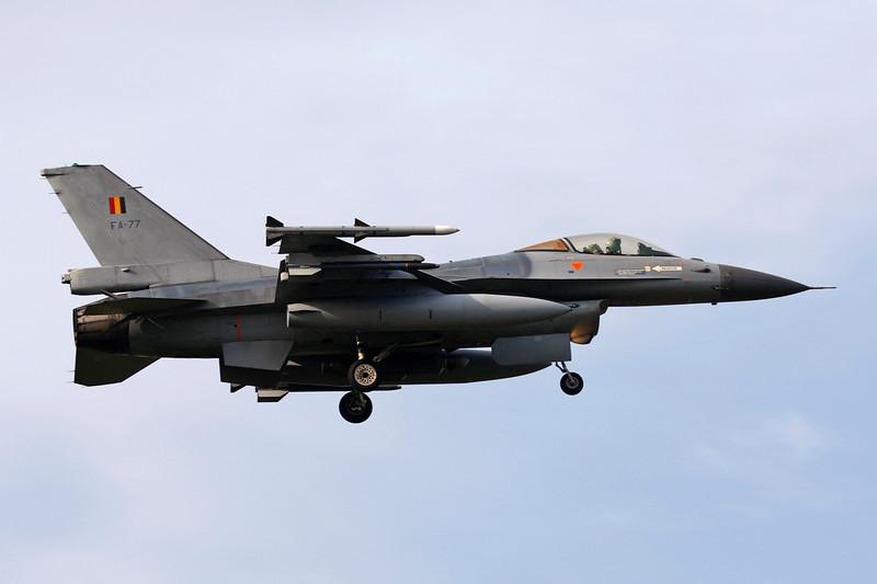 """FA-77 General Dynamics F-16AM Fighting Falcon """"Belgian Air Force"""" c/n 6H-77 Kleine-Brogel/EBBL 23-10-12"""