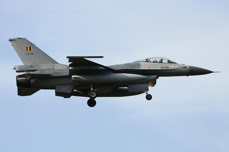 """FA-118 General Dynamics F-16A Fighting Falcon """"Belgian Air Force"""" c/n 6H-118 Kleine-Brogel/EBBL 23-10-12"""