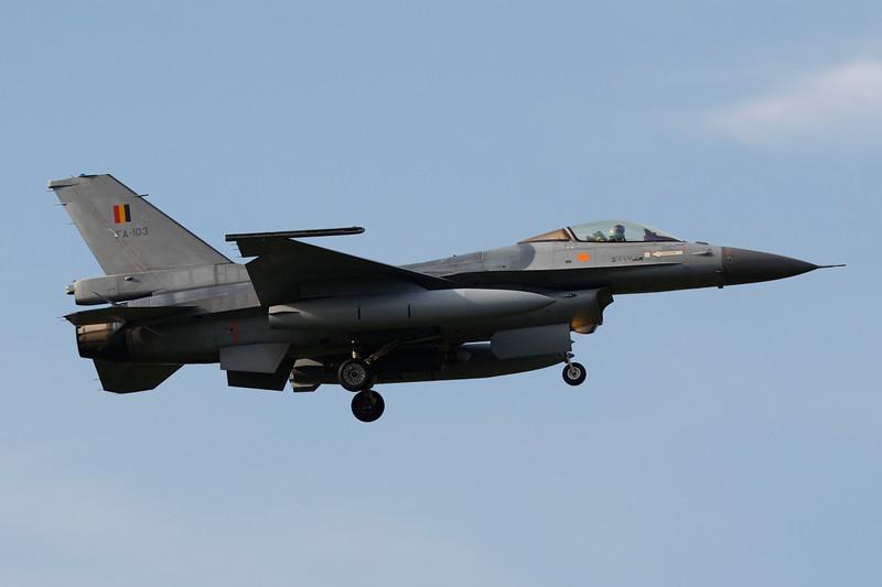"""FA-103 General Dynamics F-16AM Fighting Falcon """"Belgian Air Force"""" c/n 6H-103 Kleine-Brogel/EBBL 23-10-12"""